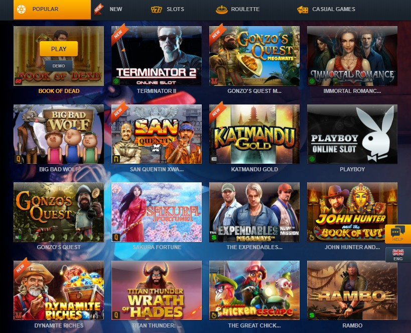 Games Without Registration at ZigZag777 Casino