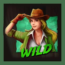 Wild Symbol of Sadie Swift: Guns'n Glyphs Slot