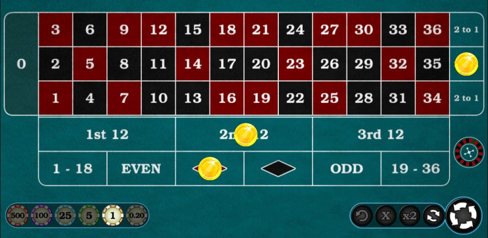how to play roulette and win outside bets