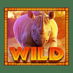 Wild Symbol of Rumble Rhino Megaways Slot