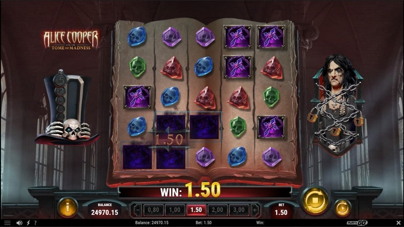 Alice Cooper and the Tome of Madness slot screen 4